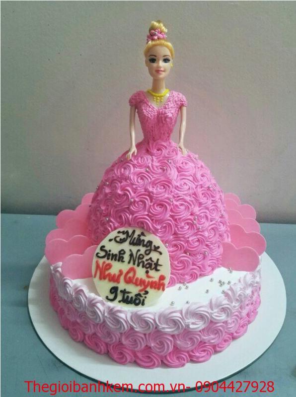Bánh sinh nhật công chúa 2 tầng Mã B4161