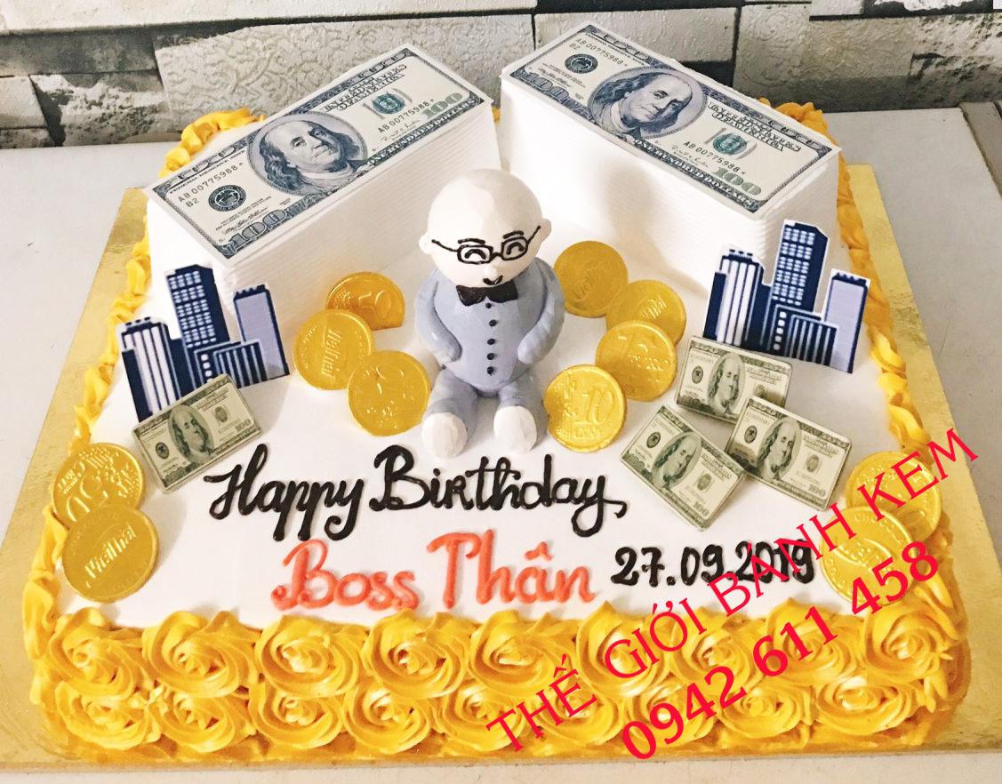 Bánh sinh nhật mừng đại gia mã B16199