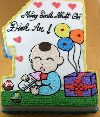 Bánh sinh nhật bé 1 tuổi mã B201