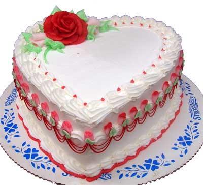 Bánh tim hoa hồng mã B418