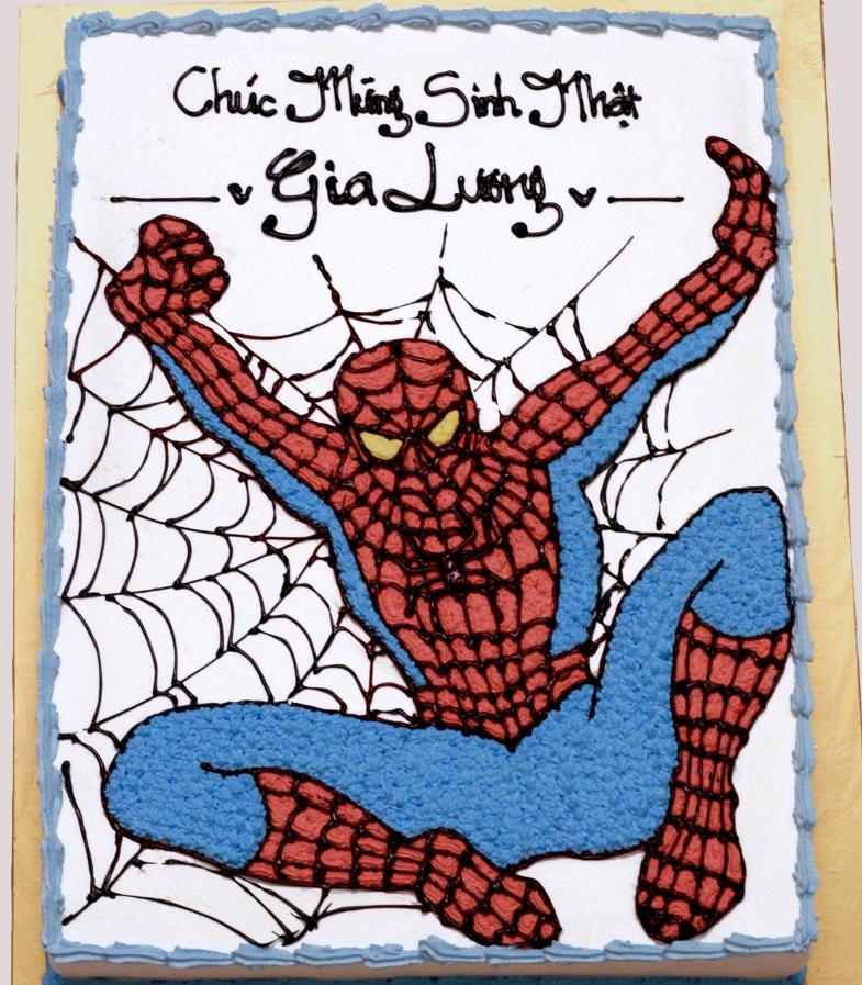Bánh người nhện Spider Man mã B2703
