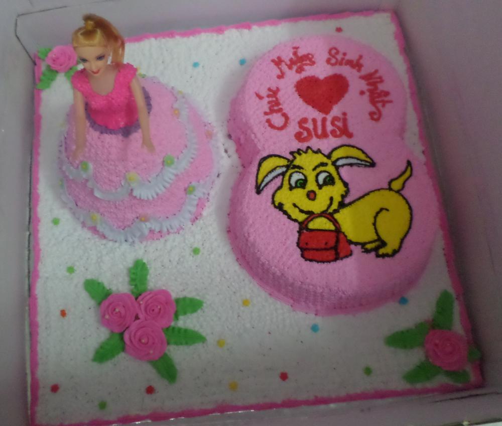 Bánh sinh nhật công chúa 3D B4725