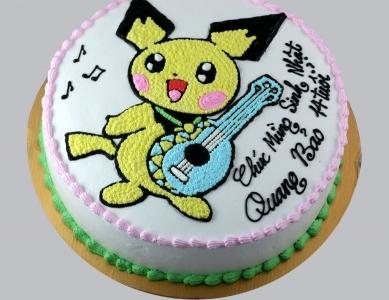 Bánh Pikachu chơi đàn mã B2051
