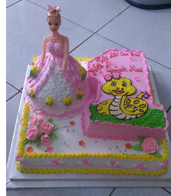 Bánh công chúa 3D mã B4737