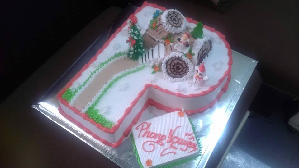Bánh sinh nhật noel mã B2338