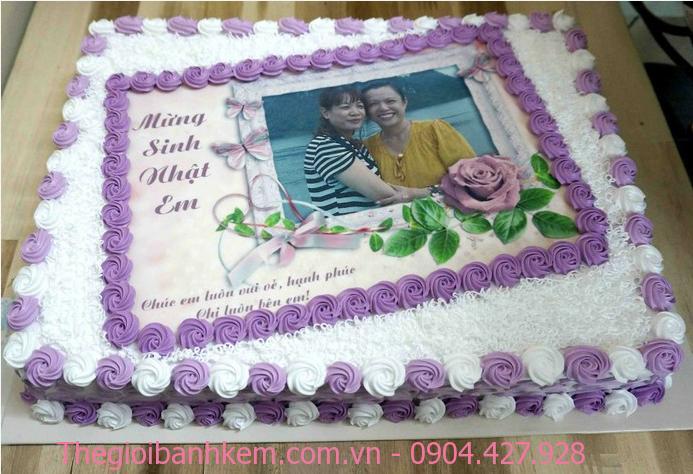 Bánh sinh nhật in ảnh MÃ B1894