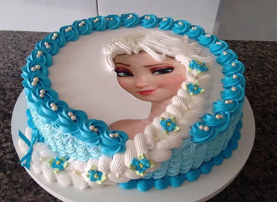 Bánh sinh nhật in ảnh Elsa Mã B1306