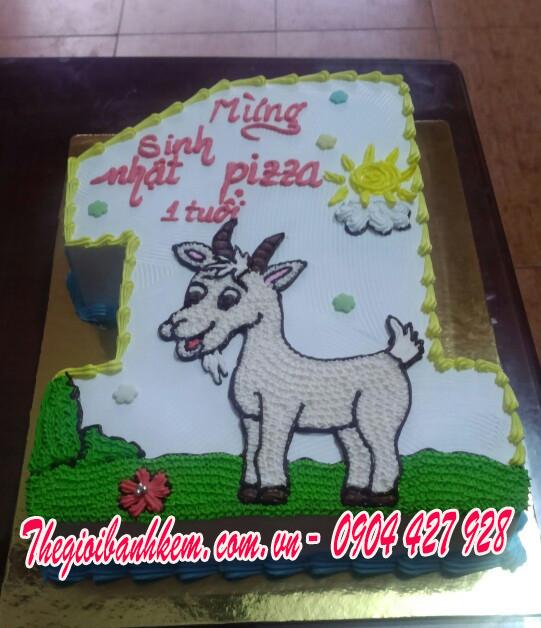 Bánh sinh nhật con dê Mã B1702
