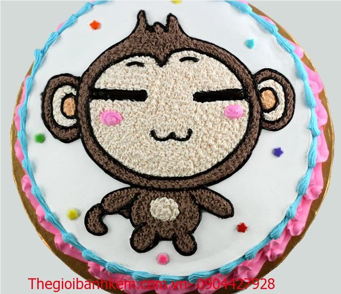 Bánh sinh nhật tuổi khỉ Mã B1726