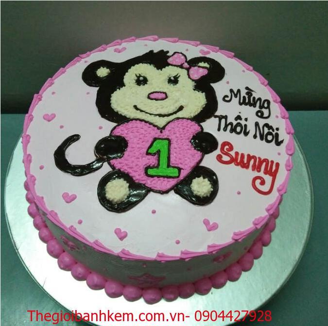 Bánh sinh nhật con khỉ Mã B1722