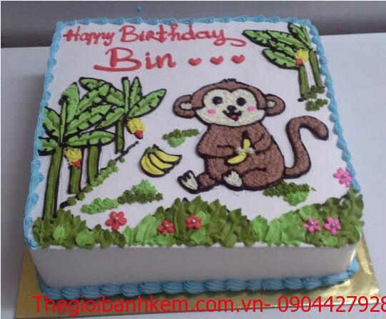 Bánh sinh nhật con khỉ Mã B1734