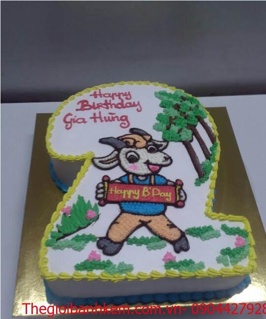 Bánh sinh nhật con dê Mã B1735