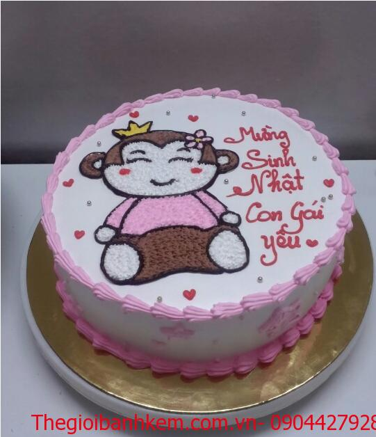 Bánh sinh nhật con khỉ Mã B1739
