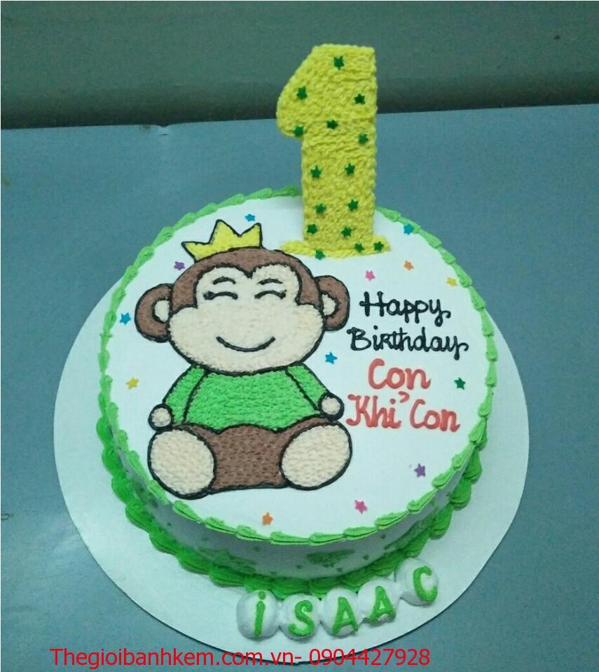Bánh sinh nhật con khỉ Mã B1742