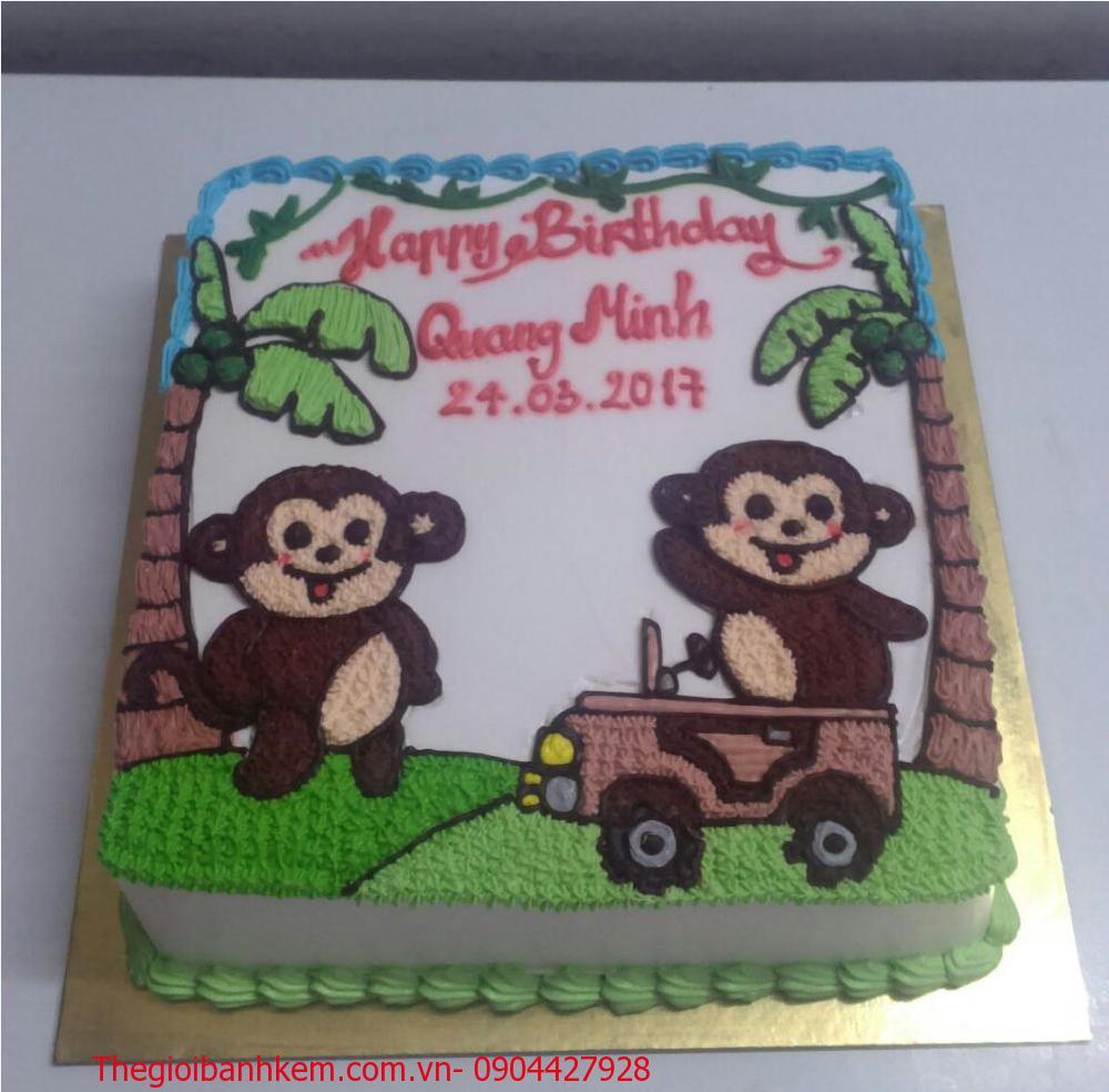 Bánh sinh nhật con khỉ Mã B1745