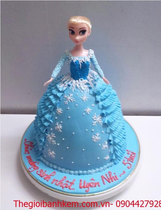 Bánh kem 3D công chúa Elsa Mã B2652