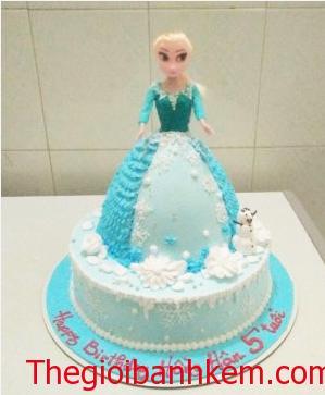 Bánh sinh nhật búp bê Elsas Mã B2654