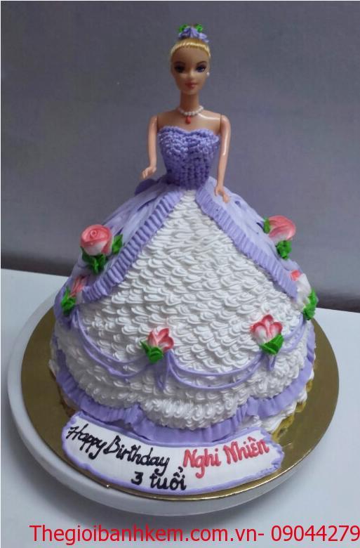 Bánh sinh nhật công chúa 3D Mã B2650