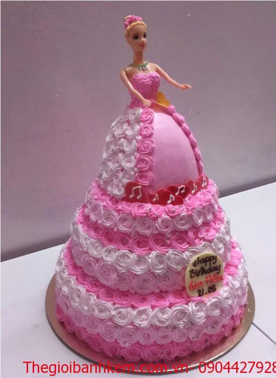 Bánh công chúa 3D Mã B4107