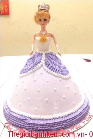 Bánh sinh nhật công chúa 3D Mã B4607