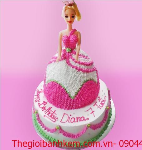 Bánh kem công chúa 2 tầng Mã B3307