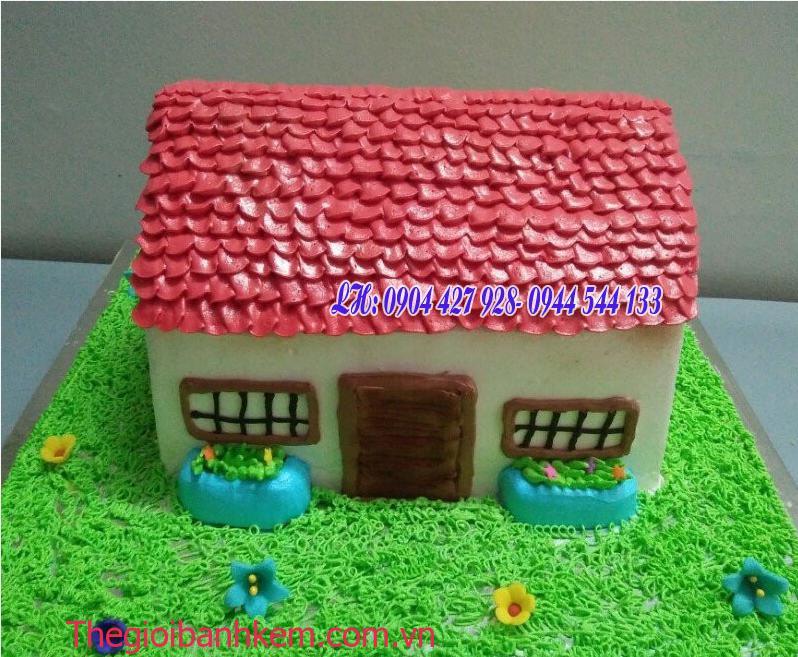 Bánh kem ngôi nhà Mã B2137