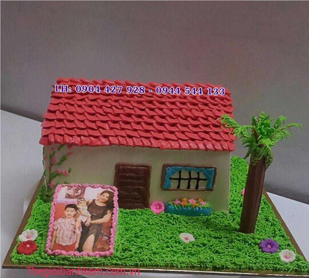 Bánh kem ngôi nhà in ảnh Mã B2141