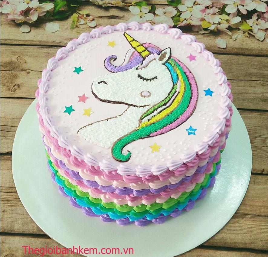 Bánh kem ngựa pony B5433