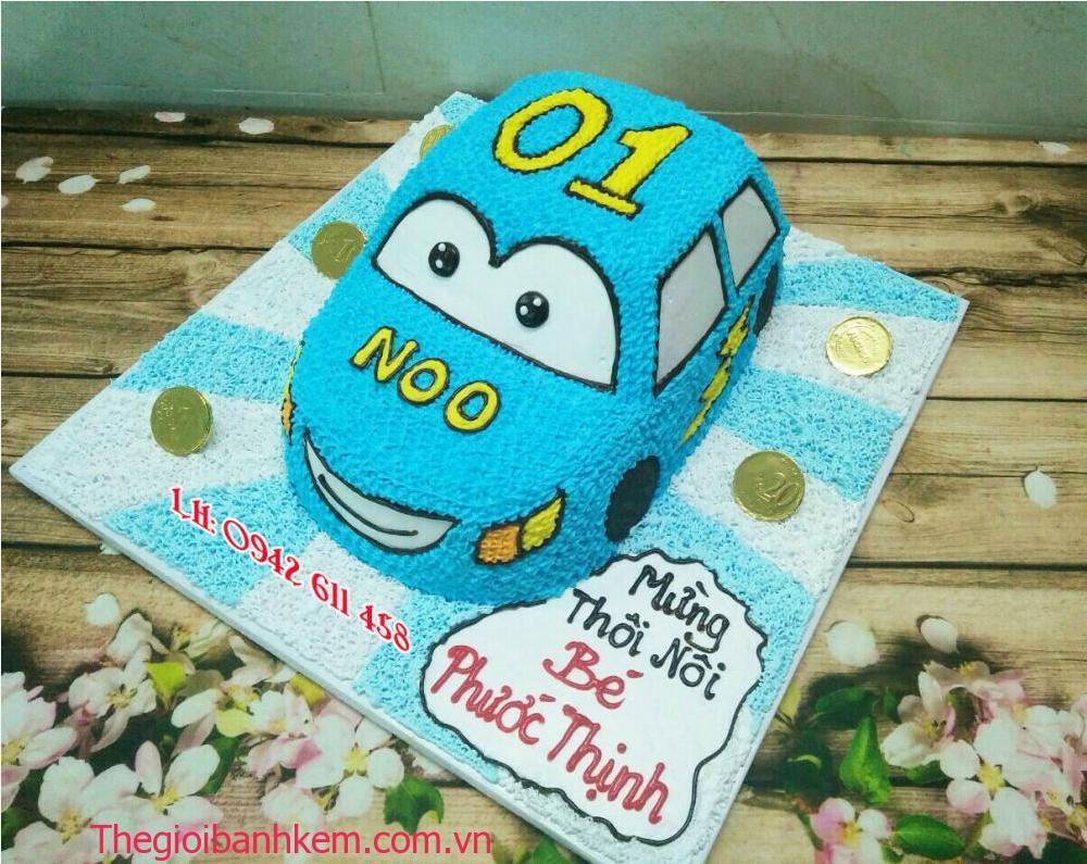 Bánh kem ô tô mầu xanh mã B1573