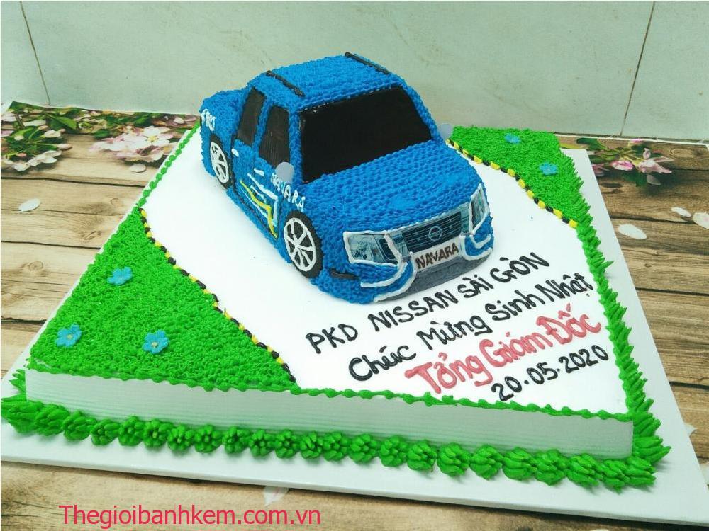 Bánh kem sinh nhật hình xe hơi mã B0602