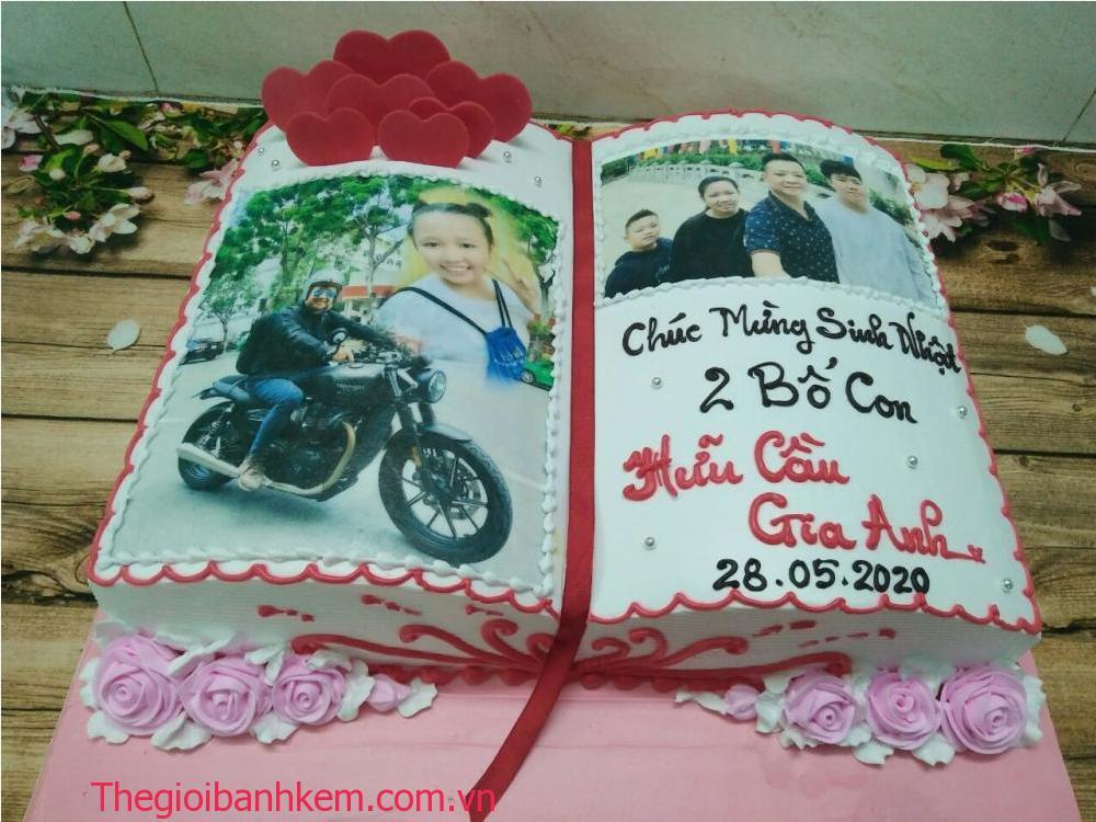 Bánh kem hình cuốn sách in hình mã B0603