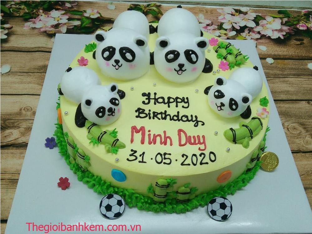 Bánh kem sinh nhật gấu trúc mã B0604